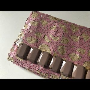 Sequined deux lux Urban Outfitters clutch